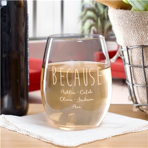 Mom Stemless Wine Glass | Funny Mom Gifts