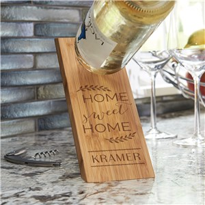 Wooden Wine Bottle Balancer | Housewarming Gifts For Wine Lovers