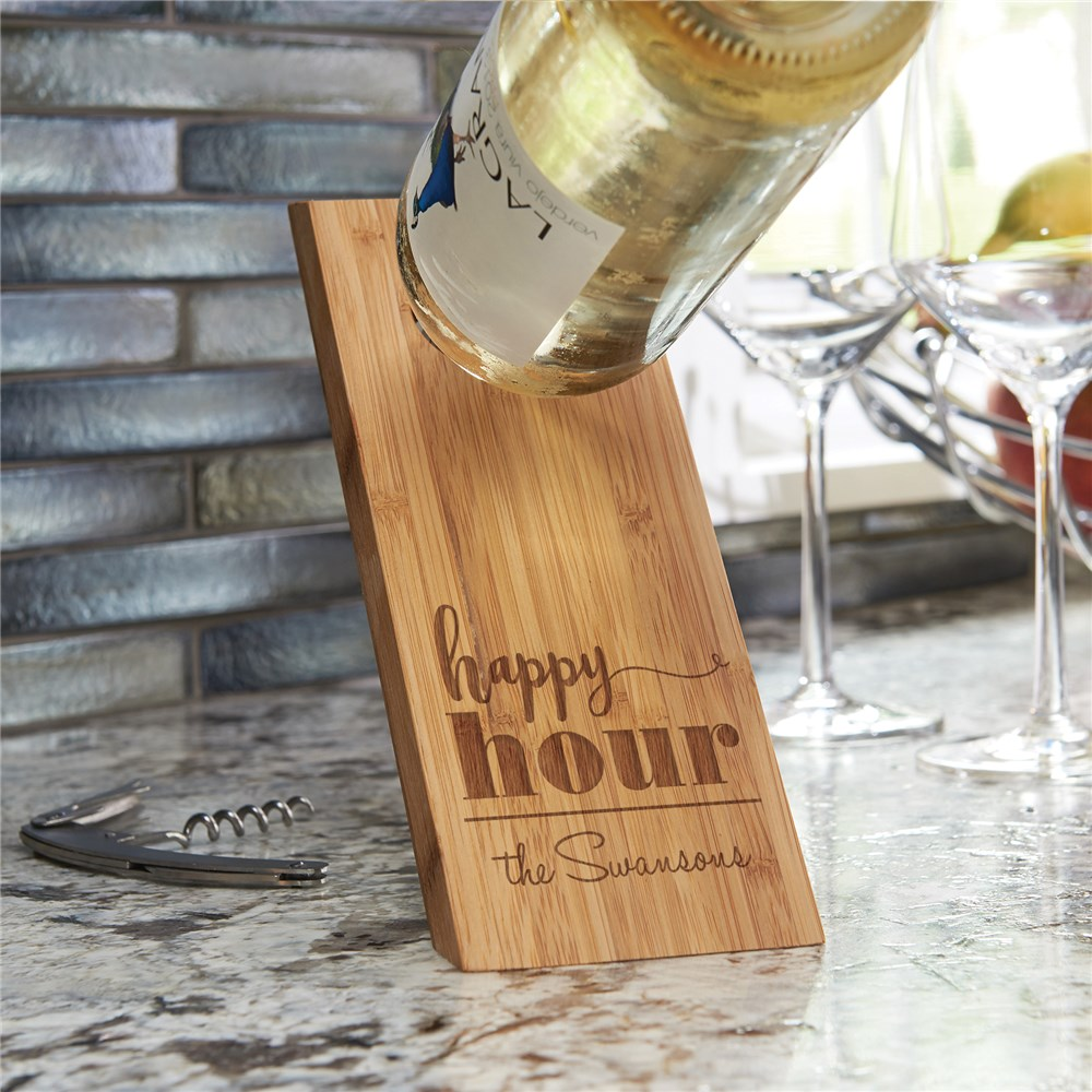 Wooden Wine Bottle Balancer | Engraved Wine Gifts
