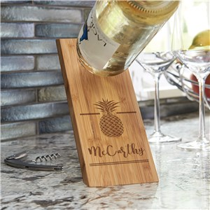 Wooden Wine Bottle Balancer | Pineapple Home Gifts