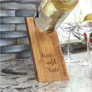Engraved Gifts For Couples | Wooden Wine Bottle Balancer