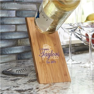 Wooden Wine Bottle Balancer | Personalized Wine Gifts