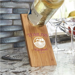 Personalized Vineyard Wine Bottle Balancer L14476263