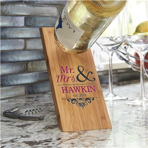 Wooden Wine Bottle Balancer | Personalized Wedding Gifts