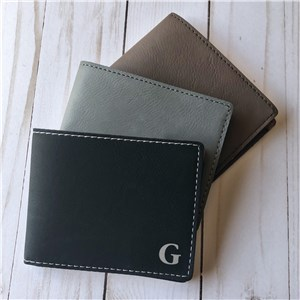 Leatherette Engraved Wallet | Wallet With Initial