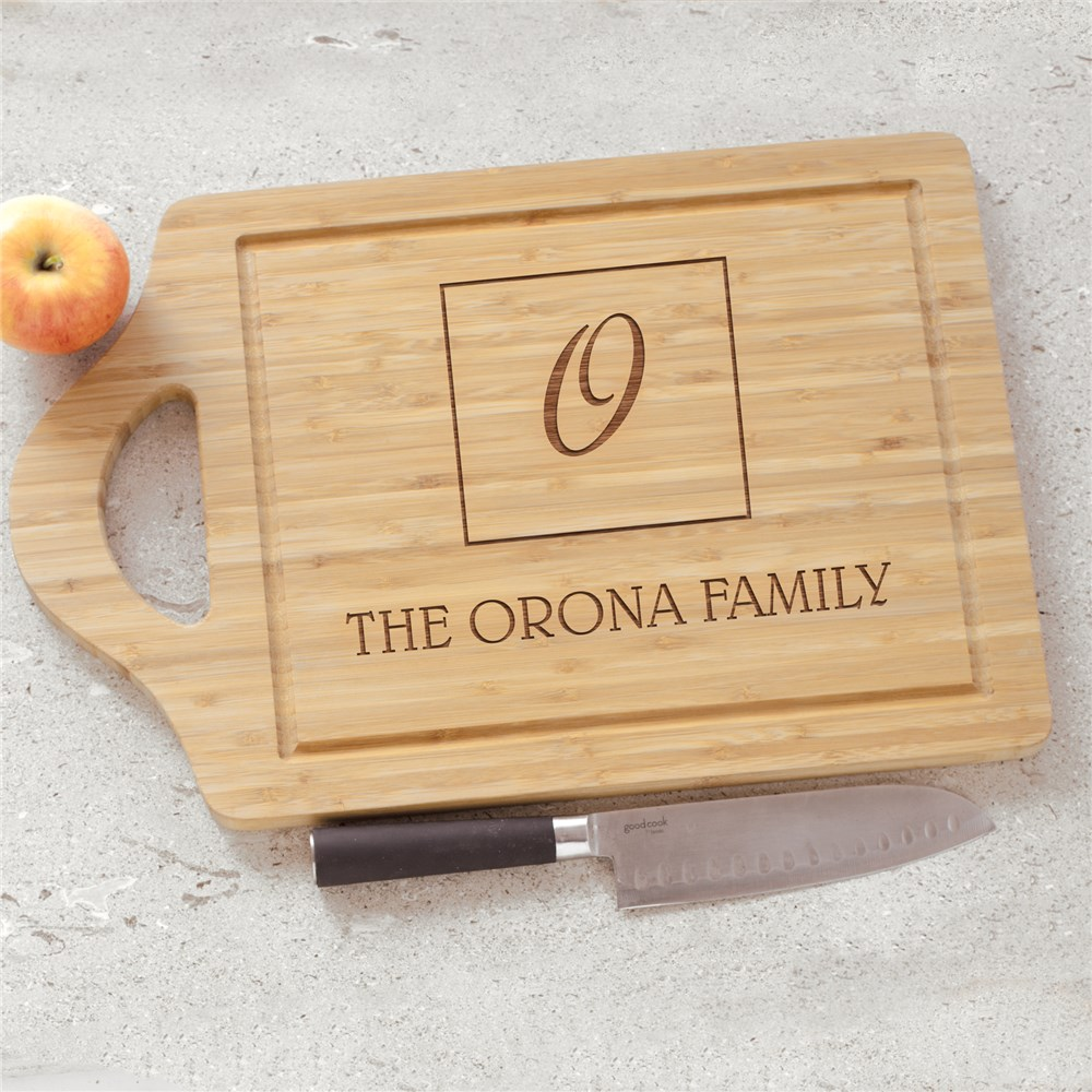 Engraved Initial And Name Cutting Board | Cutting Board With Initial