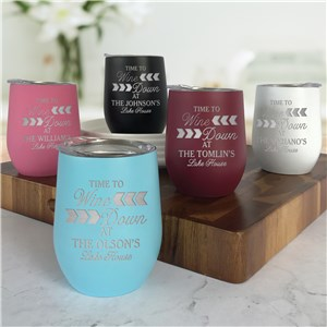Engraved Stemless Wine Tumbler | Vacation Home Hostess Gifts
