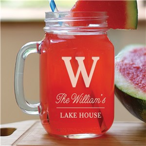 Engraved Mason Jar | Lake House Mason Jars