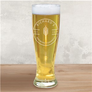 Personalized Glassware | Engraved Home Brew Pilsner Glass
