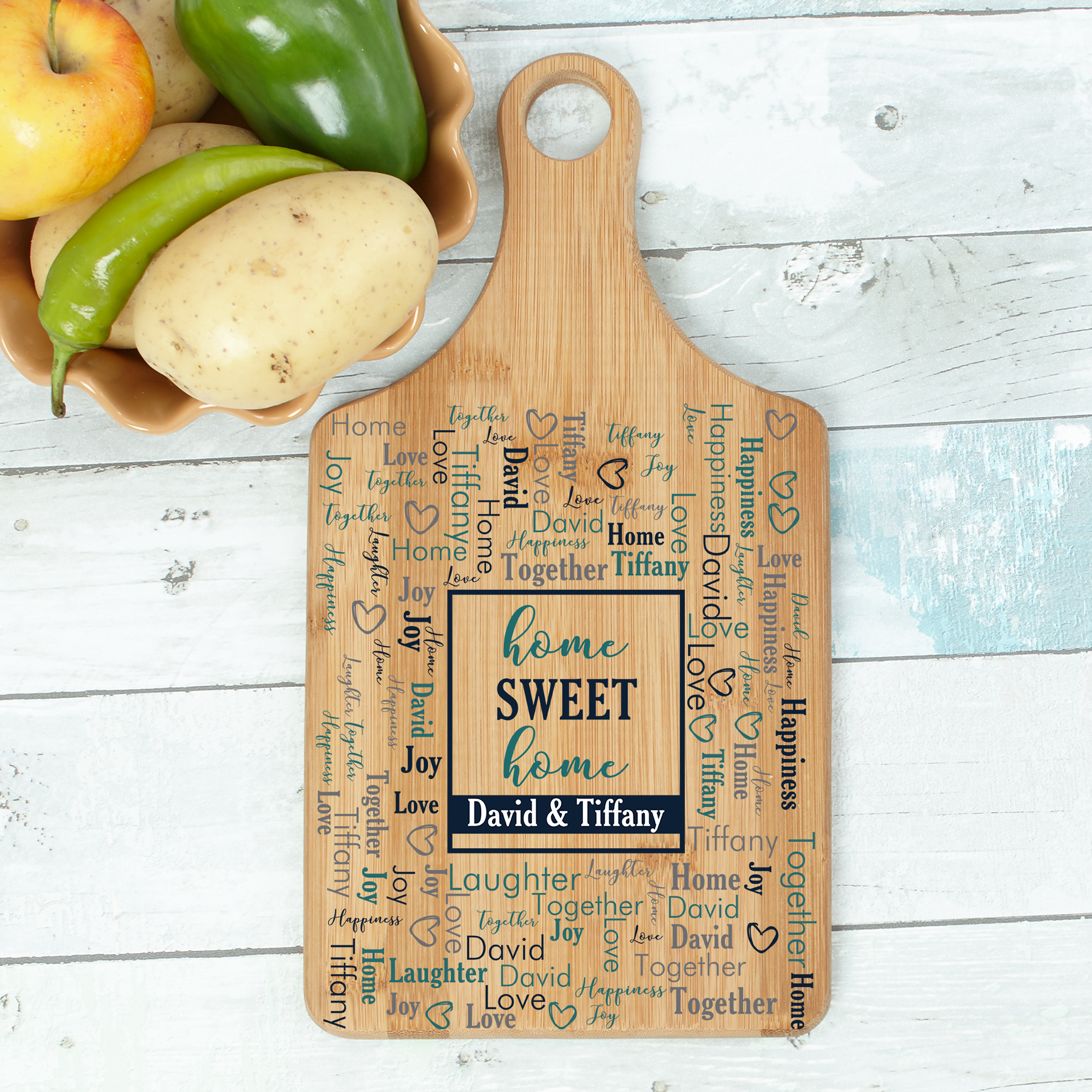 Personalized Cutting Boards | Word Art Gifts For Family