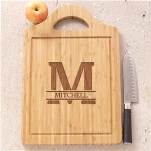 Engraved Cutting Board | Initial Bamboo Cutting Board