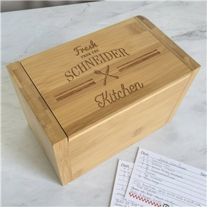Personalized Recipe Box | Engraved Recipe Box