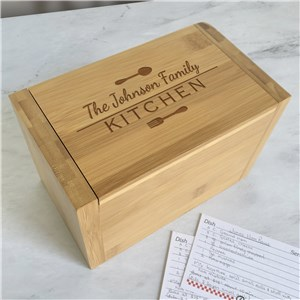Personalized Recipe Box | Engraved Kitchen Gifts