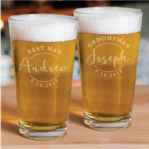 Personalized Barware | Wedding Party Glassware