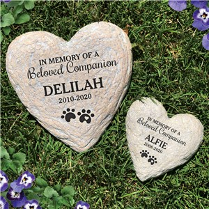 Personalized Garden Stones | Heart Shaped Pet Memorials