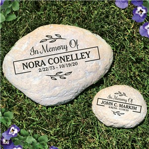 Engraved In Memory Of With Border Garden Stone L1490614X