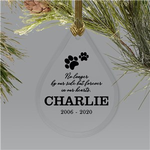 Personalized Pet Memorial Ornament | Christmas Ornaments For Beloved Pet