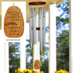 Engraved Memorial Wind Chime | Listen To The Wind Memorial Gift