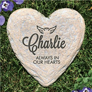 Personalized Garden Stones | Heart Shaped Memorial Stone