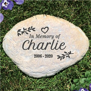 Engraved In Memory Of Large Garden Stone L1500214