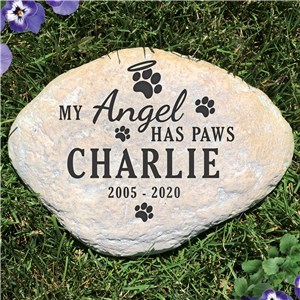 Pet Memorial Stone | My Angel Has Paws Pet Memorial
