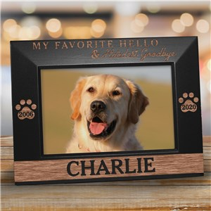 Customized Picture Frames | In Memory Of Pet Picture Frame