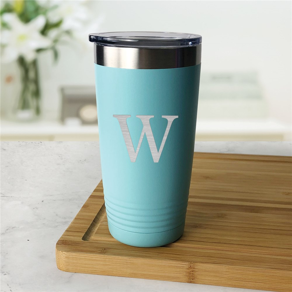 Engraved Tumbler | Initial Engraved Insulated Tumbler With Lid