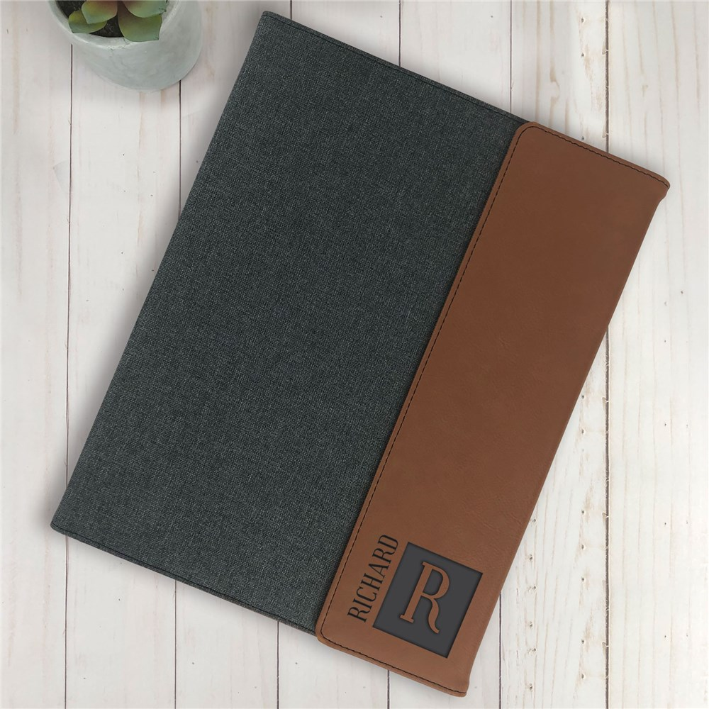 Personalized Notebook | Name and Initial Padfolio