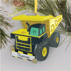 Personalized Dump Truck Ornament L15299283