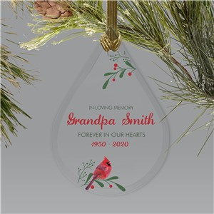 Memorial Ornaments | Sympathy In Memory Of Cardinal Christmas Ornament