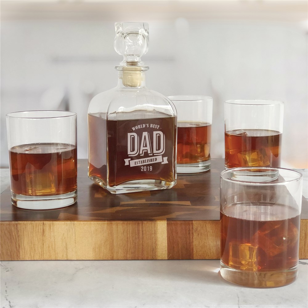 Engraved Bar Gifts | Engraved Glass Decanter and Glasses