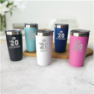 Engraved Class of Graduation Tumbler