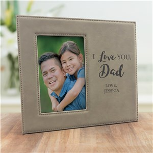 Engraved We Love You Leather Frame