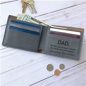 Engraved Write Your Own Message Leatherette Wallet