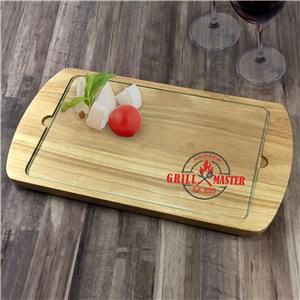 Personalized Grill Master Serving Tray