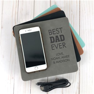 Engraved Best Ever Wireless Phone Charging Mat