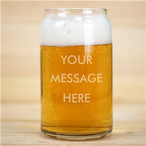 Personalized Write Your Own Beer Can Glass
