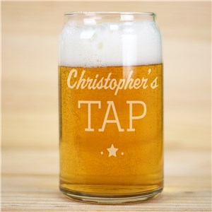 Engraved Tap Beer Can Glass L16850118