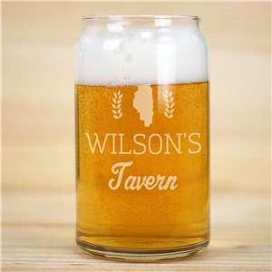 Engraved Tavern Beer Can Glass L16852118