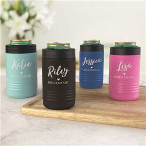 Engraved Bridesmaids Insulated Beverage Holder