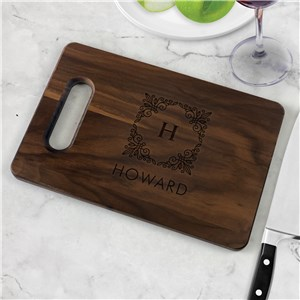 Engraved Family Name and Initial Cutting Board L17003308X