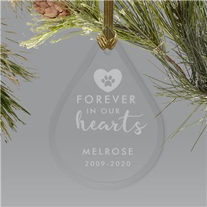 Personalized Forever In Our Hearts Tear Drop Ornament L17144111