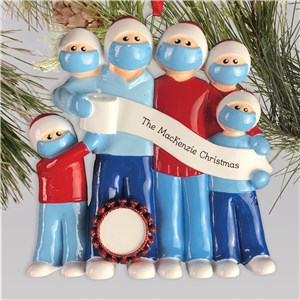 Personalized Survival Family Toilet Paper Christmas Ornament