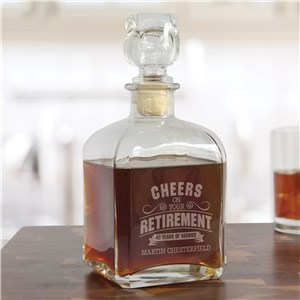 Engraved Cheers on Your Retirement Decanter L17794280