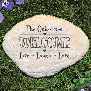 Live, Laugh, Love Garden Stone | Personalized Stones