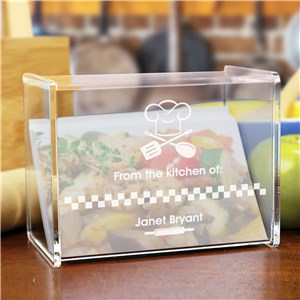 Engraved From The Kitchen Of Acrylic Recipe Box | Recipe Card Box