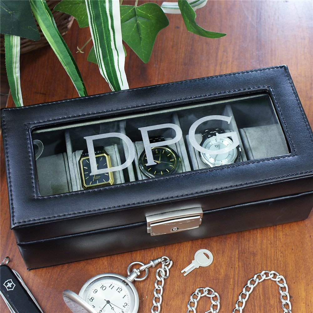 Any Initials Watch Box | Personalized Gifts for Him