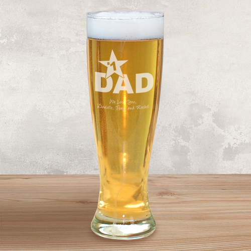 Engraved Pilsner Glass for Dad L285641