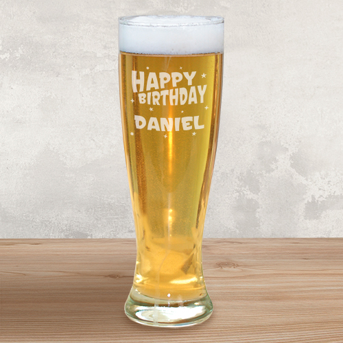 Engraved Birthday Pilsner Glass L312741