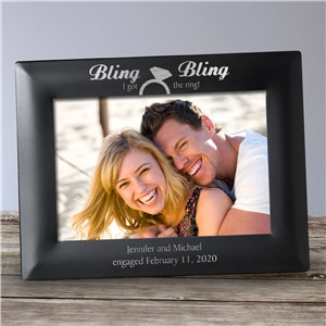 Engraved Engagement Frame | Personalized Picture Frames